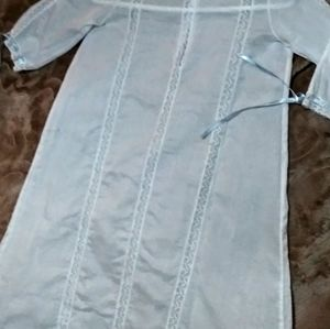 VTG ANTIQUE UNISEX INFANT LACE CHRISTENING GOWN
